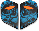Icon Motosports Replacement Sideplates for Alliance GT Helmets (HORROR Blue)