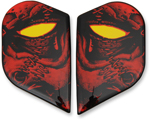 Icon Motosports Replacement Sideplates for Alliance GT Helmets (HORROR Red)