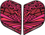 Icon Motosports Sideplates for Alliance GT BIRD STRIKE Helmet (Pink)