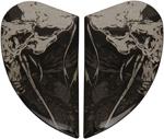 Icon Motosports Sideplates for Airframe Pro HARBINGER Helmet (Black)