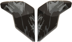 Icon Motosports Sideplates for Airflite STIM Helmet (Black)