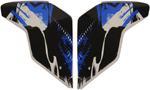 Icon Motosports Sideplates for Airflite STIM Helmet (Blue)
