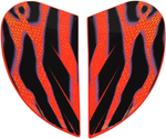 Icon Motosports Sideplates for Airmada WILD CHILD Helmet (Orange)