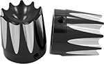AVON Axle Nut Covers/Caps for H-D Touring Models (EXCALIBUR Black)