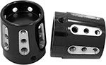 AVON Axle Nut Covers/Caps for H-D Touring Models (GATLIN Black)