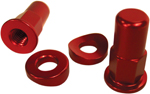 No Toil Rim Lock Tower Nut/Spacer Set (Red) NTRK-004