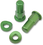 No Toil Rim Lock Tower Nut/Spacer Set (Green) NTRK008