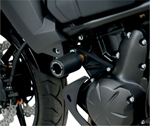 YOSHIMURA Chassis Guards/Frame Sliders (Black) 2011-2013 Kawasaki KLE650A Versys