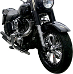 Lindby MAGNUMBAR Front Highway Bars (Chrome) 2000-2016 H-D FLST models