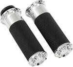 Arlen Ness - 07-328 - Fusion Series Grips, Beveled - Chrome