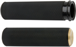 Arlen Ness - 07-334 - Fusion Series Grips, Knurled - Brass