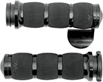 AVON Air Cushion Grips for H-D Motorcycles w/Fly-By-Wire Throttle (THROTTLE BOSS Black)