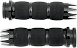 AVON Air Cushion Grips for H-D Motorcycles w/Fly-By-Wire Throttle (EXCALIBUR Black)