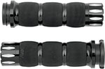 AVON Air Cushion Grips for H-D Motorcycles w/Fly-By-Wire Throttle (RIVAL Black)