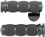 AVON Air Cushion Grips for H-D Motorcycles w/Cable Throttle (THROTTLE BOSS Black)