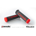 Risk Racing FUSION 2.0 ATV/MTB Grips with Fusion Bonding System (Red) 00289