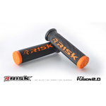 Risk Racing FUSION 2.0 ATV/MTB Grips with Fusion Bonding System (Orange) 00292