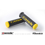 Risk Racing FUSION 2.0 ATV/MTB Grips with Fusion Bonding System (Yellow) 00293