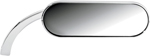 Arlen Ness - 13-407 - Micro Die-Cast Mini Oval Mirror, Right - Chrome