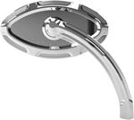 Arlen Ness - 13-131 - Beveled Cats Eye Short Stem Billet Mirror, Left - Chrome