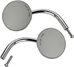 Biltwell Inc Perch-Mount Utility Mirrors for H-D Applications, CE Certified (Chrome) 4