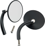 BILTWELL Perch Mount Utility Mirrors Left/Right (Black) 3.75