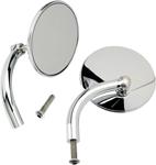 Biltwell Inc Perch Mount Utility Mirrors Left/Right (Chrome) 3.75