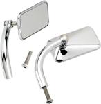 Biltwell Inc Perch Mount Utility Mirrors Left/Right (Chrome) 2.5