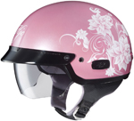 HJC Women's IS-2 Blossom Motorcycle Half Helmet (Pink)