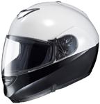 HJC SY-Max 3 Lo Rise Modular/Flip-Up Motorcycle Helmet (White/Black)
