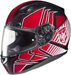 HJC CL-17 Redline Full-Face Motorcycle Helmet (Red)