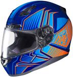 HJC CL-17 Redline Full-Face Motorcycle Helmet (Blue Orange)