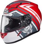 HJC CL-17 Mech Hunter Full-Face Motorcycle Helmet (Red)