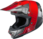 HJC CL-X7 Cross Up Motocross MX Offroad Motorcycle Helmet (Black/Red)