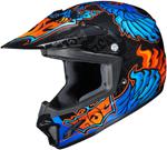 HJC Kids CL-XY II Eye Fly Motocross MX Offroad Motorcycle Helmet (Blue/Orange)