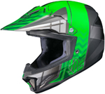 HJC Kids CL-XY II Cross Up Motocross MX Offroad Motorcycle Helmet (Black/Green)