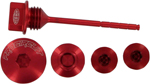 Pro Circuit Engine Plug Kit (Anodized; Mirror; Red)