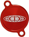 Pro Circuit Oil Filter Cover (Anodized; Red; White)