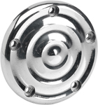 BILTWELL Ripple Ignition/Points Cover (Polished) For 5-hole Twin Cam H-D models