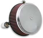 Arlen Ness - 18-321 - Billet Sucker Stage I Air Filter Kit with Steel Cover