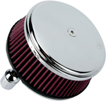 Arlen Ness - 18-324 - Billet Sucker Stage I Air Filter Kit with Steel Cover