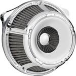 Arlen Ness - 18-920 - Inverted Series Air Cleaner Kit, Slot Track - Chrome