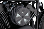 Vance & Hines - 71019 - VO2 Air Cleaner Cover - Skullcap Crown (Black)