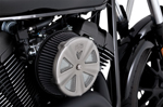 Vance & Hines - 71025 - VO2 Air Cleaner Cover - Skullcap Crown (Matte Chrome)