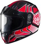 HJC Kids CL-Y Redline Full-Face Snow Snowmobile Helmet (Red)