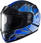 HJC Kids CL-Y Redline Full-Face Snow Snowmobile Helmet (Blue)