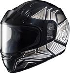 HJC Kids CL-Y Redline Full-Face Snow Snowmobile Helmet (Black)