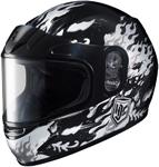 HJC Kids CL-Y Flame Face Full-Face Snow Snowmobile Helmet (Black)