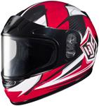HJC Kids CL-Y Striker Full-Face Snow Snowmobile Helmet (Red)
