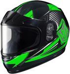 HJC Kids CL-Y Striker Full-Face Snow Snowmobile Helmet (Green)